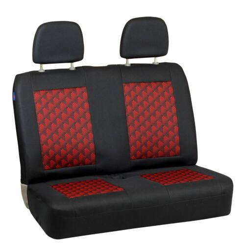Noir-Rouge Sitzbezüge pour MITSUBISHI envisagent Siège-auto référence Set 1+2