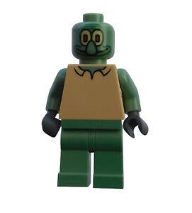 Lego-SpongeBob-Thaddaeus-Squidward-Minifigur-bob003-Figur-Legofigur-Neu