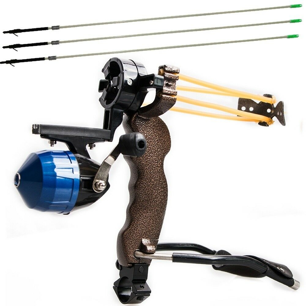 High Powerful Fishing Slingshot 3PCS Arrow Target Professional Hunting Shooting