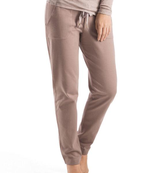 Hanro Lounge Hose Prince-reine Baumwolle- Ripsband- Farbe pink taupe – Gr XS- L