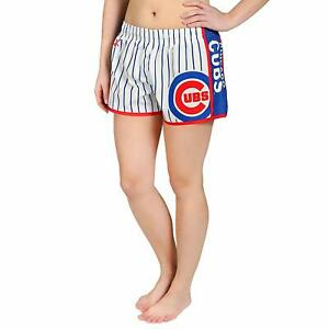 Forever-Collectibles-MLB-Women-039-s-Chicago-Cubs-Pinstripe-Shorts