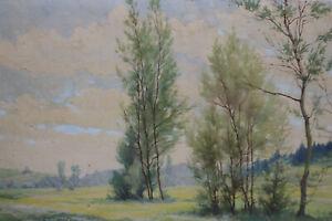 Gustav Müller Ölfarbe auf Leinwand Frühling im Lauertal 1948