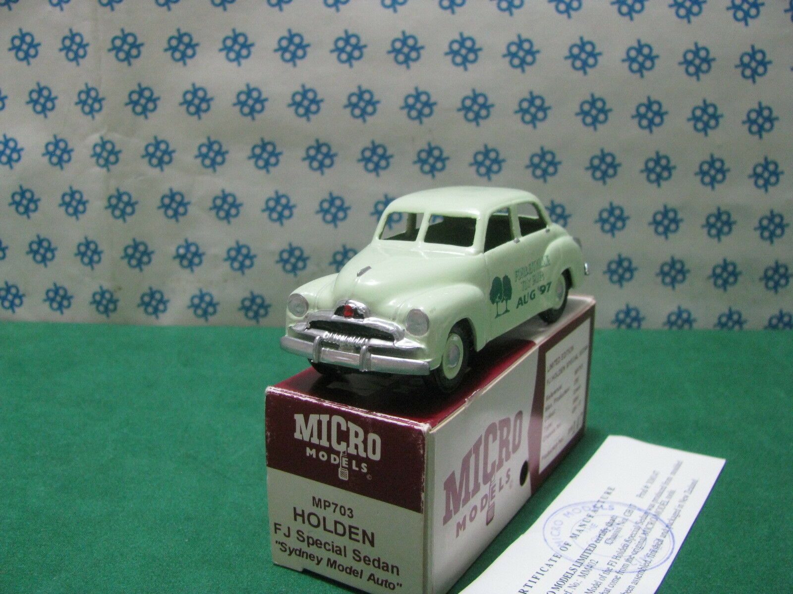 Vintage Micro Models - Holden FJ Special   Sydney Model Auto   Mm402 - MIB