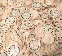 Lego X50 Bulk Time Clock / White 2x2 Round Tile With Clock Pattern Lot