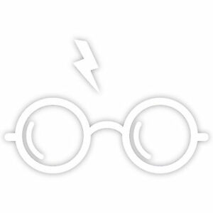 "Harry Potter Wizard Glasses Lightning Bolt 3/"" Vinyl Decal Window Sticker V#1"