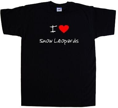 I Love Heart Snow Leopards T-Shirt
