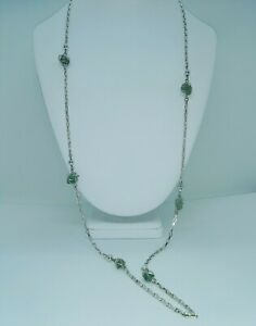 LONG-VINTAGE-SILVER-BOX-CHAIN-STYLE-FASHION-NECKLACE