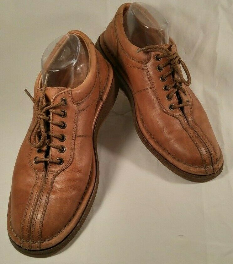 LNC Allen Edmonds Torino Brown Leather Split Toe Casual Oxford shoes Men 9.5