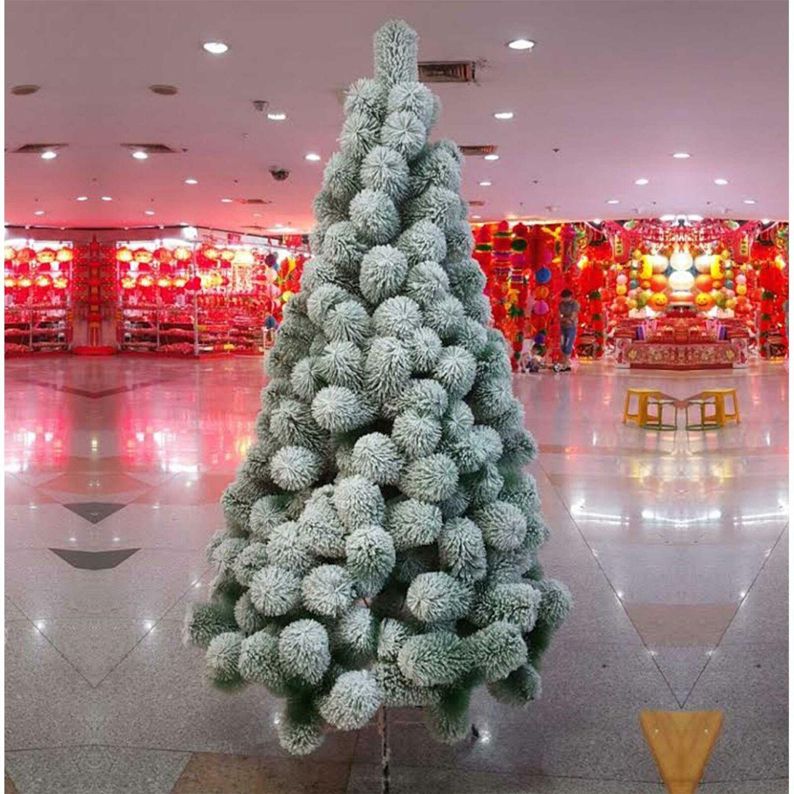 5ft-7ft Artificial Christmas Tree Snow Coverot Boulder Pine Xmas Home Decor