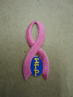 Sigma Gamma Rho Breast Cancer Ribbon Patch