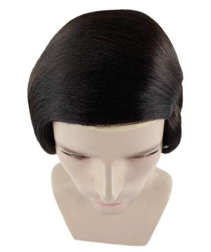 Men Dark Brown Wig Comb Over Bald for Cosplay Halloween Party Fancy Dress HM-251
