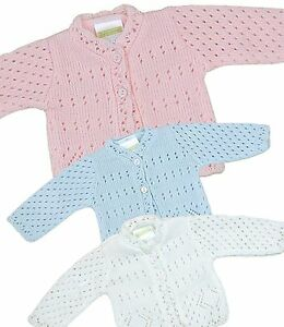 Babyprem baby clothes premature early tiny boys girls knitted cardigan
