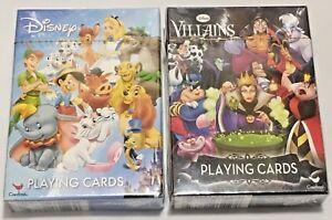 Disney Villains Single Deck Playing Cards New