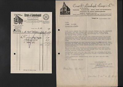 2 X Brief 1929/45 Ernst & Lienekogel Geschäftshaus Feine Verarbeitung Lemgo