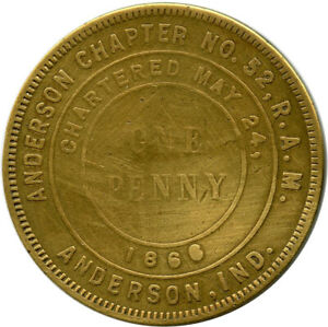 Anderson-Chapter-Anderson-Indiana-IN-Chartered-1866-Masonic-Token