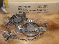 2 New Duke # 1 1/2 Coil Spring Traps  Raccoon Fox Mink Nutria Trapping NEW SALE