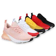 Damen Sportschuhe Laufschuhe Fitness Sneaker Strick Schnürer 898818 Mode