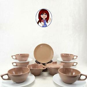 MELMAC-MELAMINE-21pc-Coffee-Tea-Snack-Set-Cups-Saucers-amp-Plates-NICE-Condition