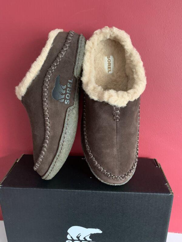 ???? Sorel Falcon Ridge Pantofole Di Nuovo Di Zecca Con Marrone Taglia Regno Unito 8