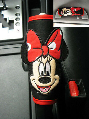 Minnie Mouse Disney Car SUV Accessory #Red Hand Brake, Side Brake, Handle Cover