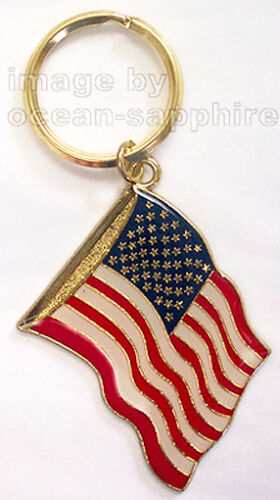 AMERICAN FLAG  Key Ring Keychain Key Chain NEW United States US NEW Great gift!