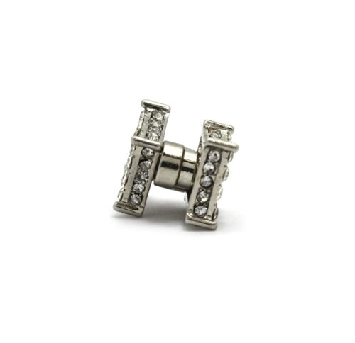 NEW ICED OUT 11.4mm SQUARE MAGNETIC PIECE PIERCED STUD HIP HOP EARRING XE1151