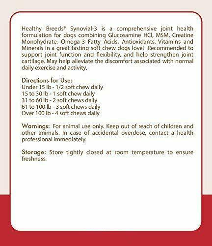 discounts online store Healthy Breeds Synovial 3 Dog Hip & Joint ...