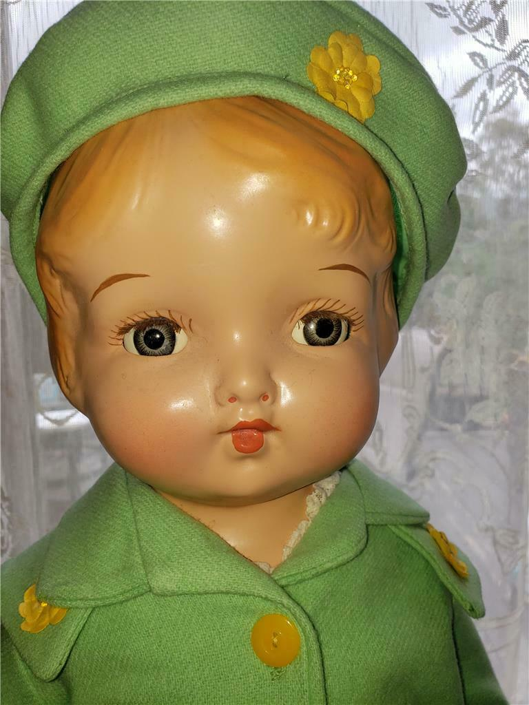 Década de 1930 25  Regal Kiddie's Pal Niño Muñeca composición Muñeca difícil de encontrar