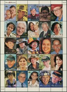 Australia-2000-SG1922-Faces-Of-Australia-sheetlet-of-25-MNH