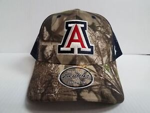 46bc87213 Details about Arizona Wildcats Zephyr Cap Adjustable Snapback Mesh Recon  Realtree Camo Hat