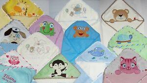 Kapuzentuch mit Name Baby Badetuch Handtuch  Geschenk Taufe NEU