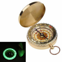 Tranditional Brass Metal Compass Pocket Watch Style Antique Camping Hiking