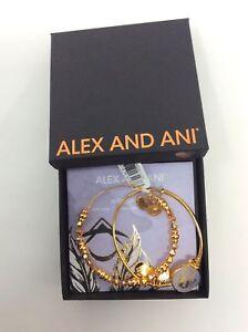 Alex-and-Ani-Godspeed-Art-Infusion-Set-of-2-Bangle-Bracelets-Shiny-Gold-NWTBC