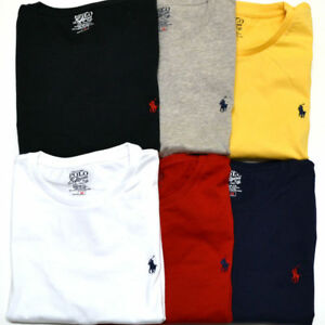 Polo-Ralph-Lauren-Cuello-Redondo-Mangas-Cortas-Calce-Personalizado-Camiseta-Hombre