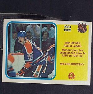 WAYNE GRETZKY 1982 83 O-Pee-Chee NHL Assist Leader  240 Edmonton ... 6a50a63d9