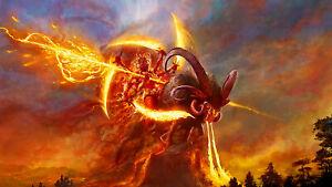 PLAQUE MÉTAL   mythologie dieu   30 X 20 CM