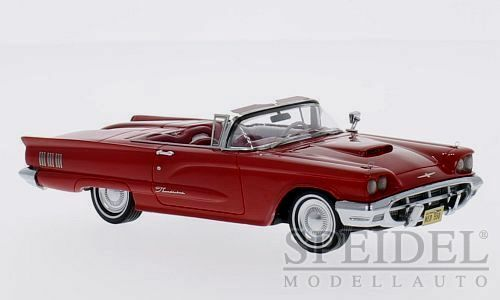 Wonderful  modelcar FORD THUNDERBIRD CONVERTIBLE 1960 - rosso  - 1/43