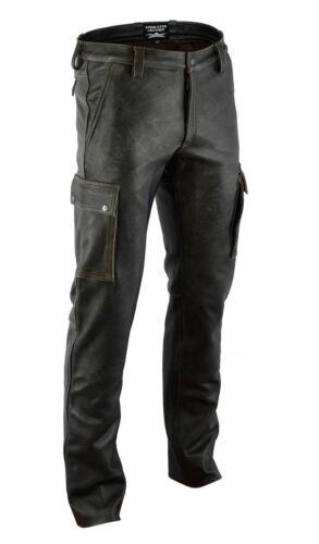 pantalon cargo en véritable cuir leather trousers 32w Aw-7910 cargo pantalon cuir ancien