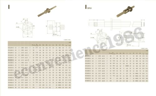 2sets Antibaclashed RM1204--400 mm  End Machine Ball Screw /& 2 RM1204 Single Nut