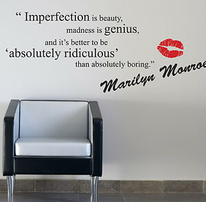 Image Is Loading MARILYN MONROE WALL STICKERS QUOTES ART DECALS W52