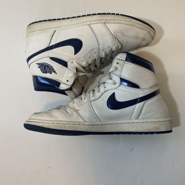 Nike Air Jordan 1 Retro High OG - White Midnight Navy Size 10.5 555088-106