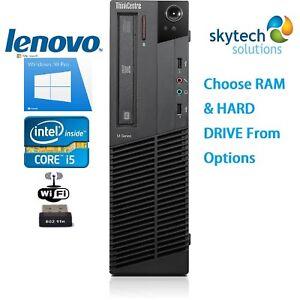 LENOVO-Thinkcentre-Core-i5-2nd-Gen-3-1GHz-SFF-a-Buon-Mercato-PC-16GB-2TB-SSD-Windows-10