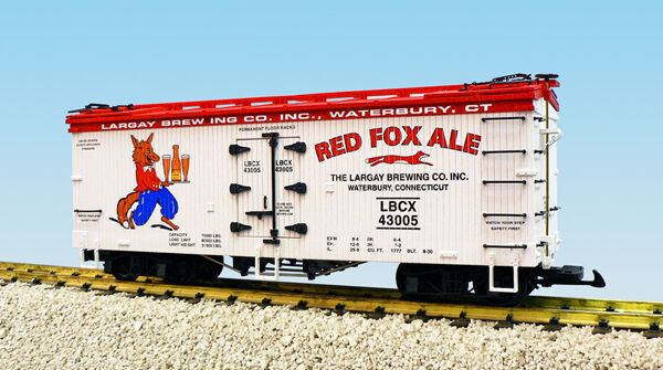 USA USA USA Trains G Scale R16369 RED FOX ALE - WHITE RED Reefer 377e37