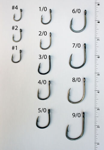 25 Size 4//0 4x Strong Custom Offshore Live Bait Hooks L319