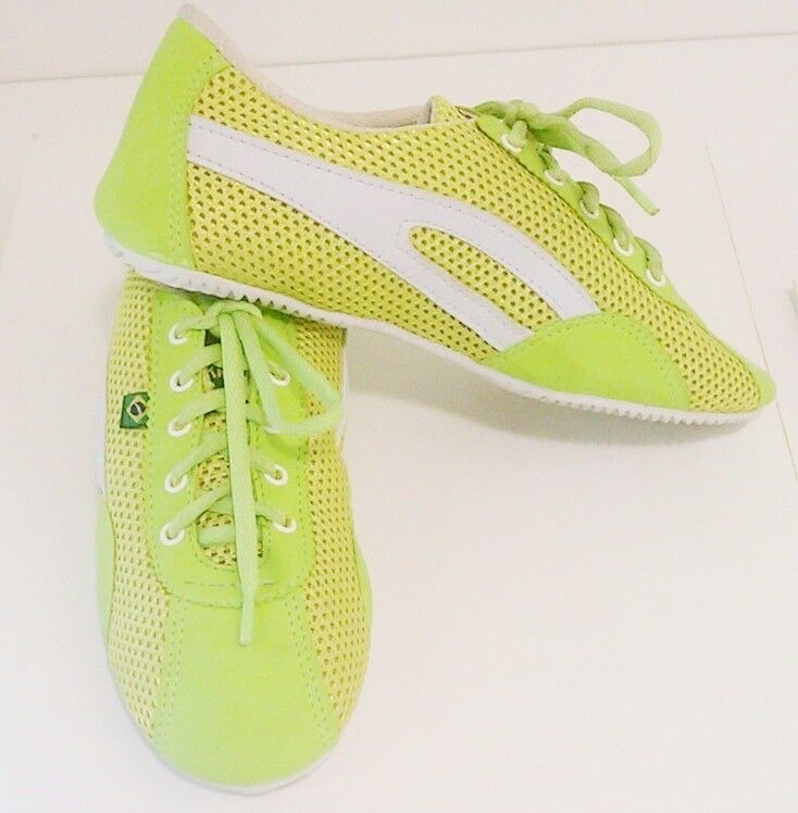 Taygra Brasilien verde & blanco Schmal zapatillas Flexibel & Hell Schuh Talla 39