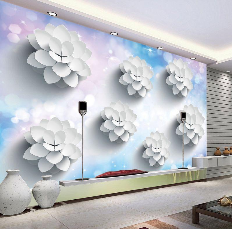 3D Belles Fleurs 65 Photo Papier Peint en Autocollant Murale Plafond Chambre Art