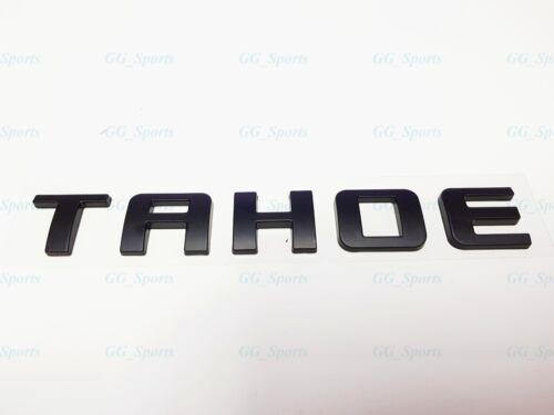 1PC Matte Black TAHOE Letters Nameplate Emblems Badges For Chevrolet Tahoe LTZ