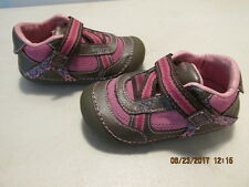 Stride Rite Grey & Pink  Infant Toddler Girls  Shoes Size 5M FREE SHIPPING