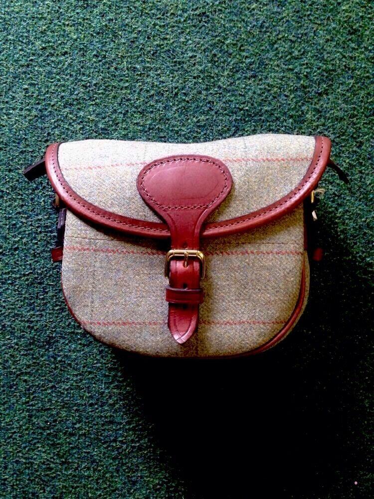 Leather & Tweed Cartridge Bag Shooting Hunting, rrp