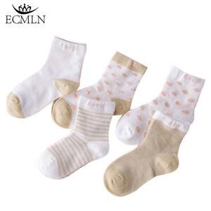 5-Paires-Bebe-garcon-fille-Cartoon-coton-chaussettes-nouveau-ne-Infant-Toddler-Kids-Soft-Sock